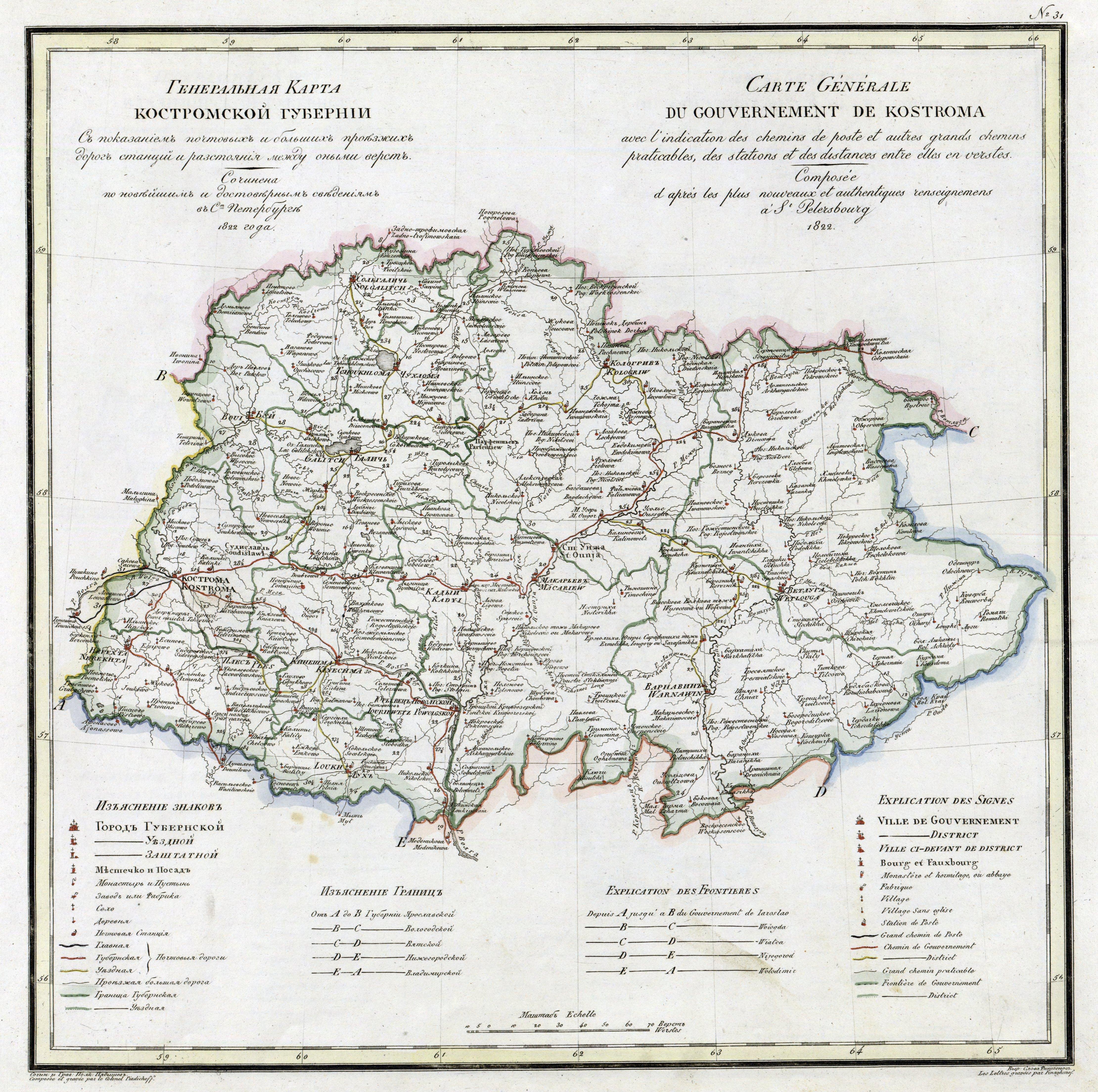 Исторические карты костромской